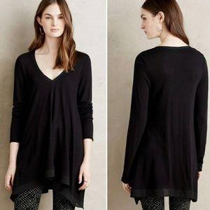 Deletta black Lokka v-neck rayon tunic